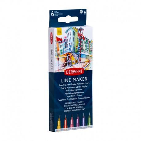 Set 6 liner Line Maker Colour Derwent
