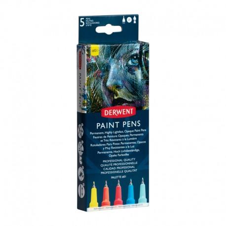 Set 5 liner Paint Pen Palette 1 Derwent
