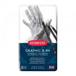 Set 12 creioane grafit Hard Graphic Derwent