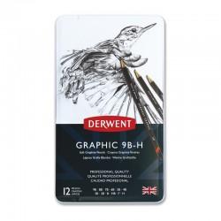 Set 12 creioane grafic Soft Graphic Derwent
