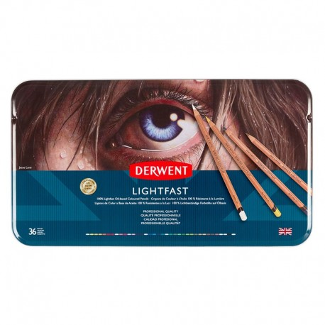 Set 36 creioane colorate Lightfast Derwent