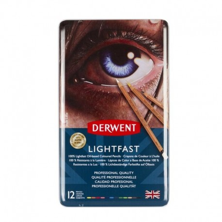 Set 12 creioane colorate Lightfast Derwent