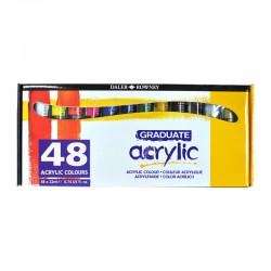 http://Set 48x22ml culori acrilice Graduate Daler Rowney