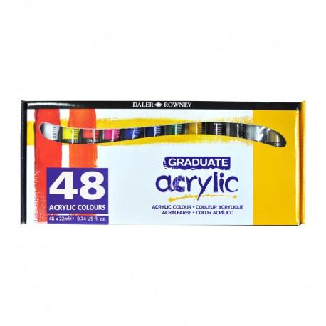Set 48x22ml culori acrilice Graduate Daler Rowney