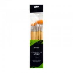 Set 8 pensule pictura acrilic Atelier