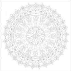 http://Set 4 modele carton pre-desenat Mandala Art Therapy Phoenix