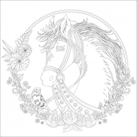 Carton panzat pre-desenat Horse Art Therapy Phoenix