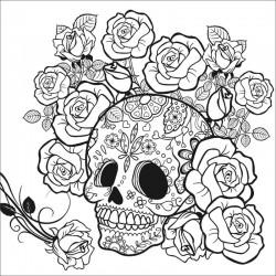 http://Carton panzat pre-desenat Skull Art Therapy Phoenix
