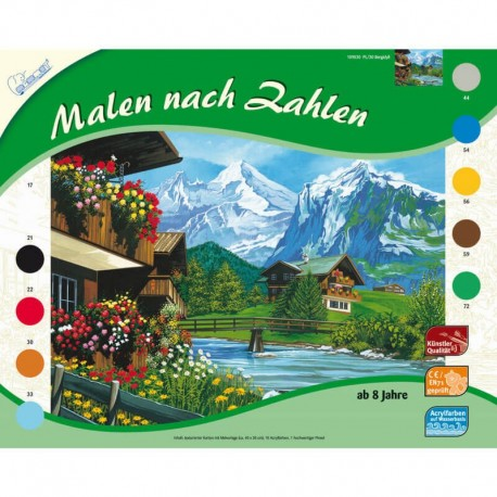 Pictura pe numere Peisaj montan