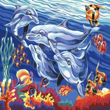 Pictura pe numere Delfini