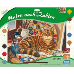 http://Pictura pe numere Pisici