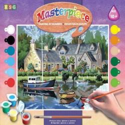 http://Pictura pe numere Barci pe lac