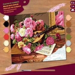http://Pictura pe numere Buchet flori