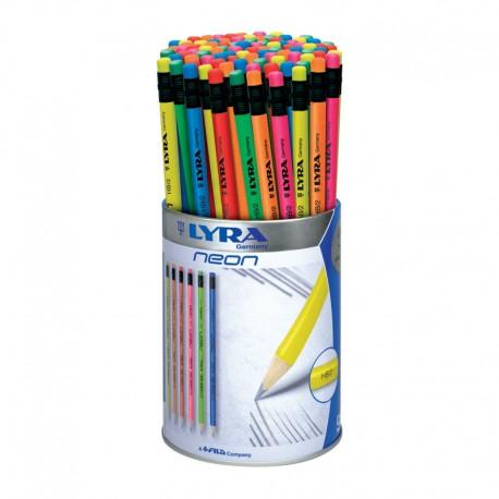 Display 96 creioane grafit Neon Lyra
