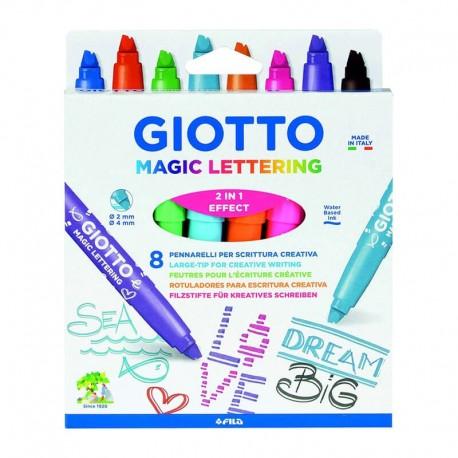 Set 8 carioci Magic Lettering Giotto