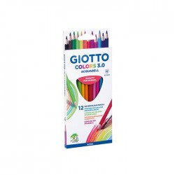 Set 12 creioane acuarelabile Colors 3.0 Giotto