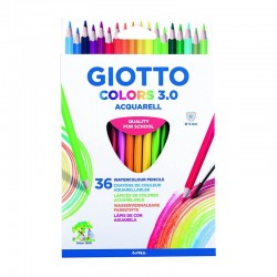 Set 36 creioane acuarelabile Colors 3.0 Giotto