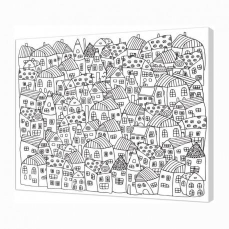 Panza sasiu predesenata Village Art Therapy Pintcolor