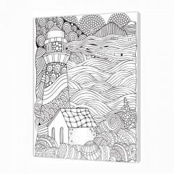 Panza sasiu predesenata Lighthouse Pintcolor