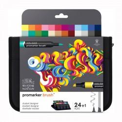 Trusa 24 Promarkere Brush Student Designer Winsor & Newton
