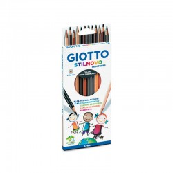 Set 12 creioane colorate Skintones Stilnovo Giotto