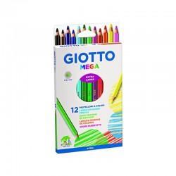 http://Set 12 creioane colorate Mega Giotto