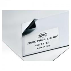 Placa zinc gravura