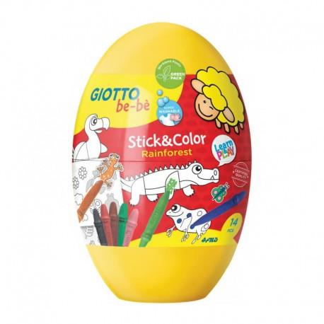Set 8 creioane cerate Easter Egg Giotto Bebe