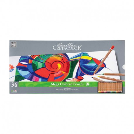 Set 24 creioane MegaColor Cretacolor