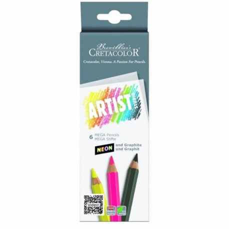 Set 6 creioane neon Artist Studio Cretacolor