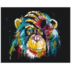 Pictura pe numere Colorful Chimpanzee Atelier