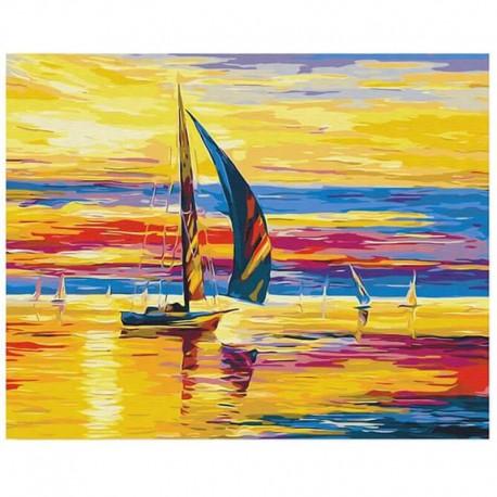 Pictura pe numere Sunrise afloat Atelier