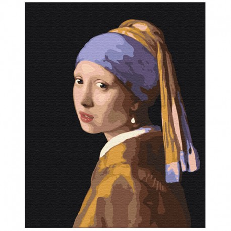 Pictura pe numere Girl with a pearl earring Atelier