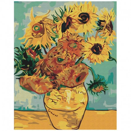 Pictura pe numere Sunflowers Atelier