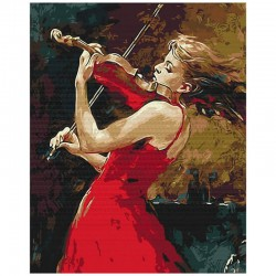 Pictura pe numere Girl with violin Atelier