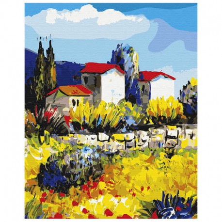 Pictura pe numere Province countryside Atelier