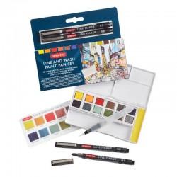 Set Line&Wash Paint Pan Derwent