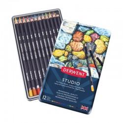 Set 12 creioane colorate Studio Derwent