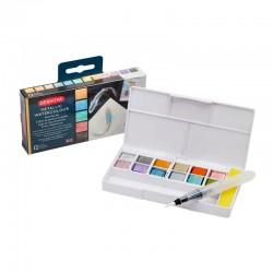 Set 12 Inktense Paint Pan Metallic Derwent