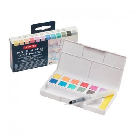 Set 12 Pastel Paint Pan Derwent