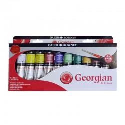 http://Set culori ulei 10x38ml si pensula Georgian Daler Rowney