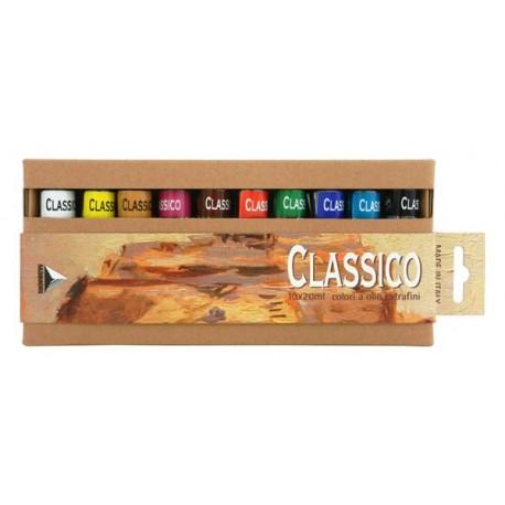 Set 10x20ml culori ulei Classico Maimeri blister