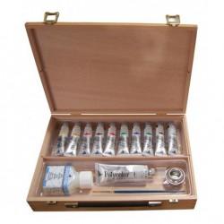 Set cutie lemn mica culori vinilice Polycolor Maimeri