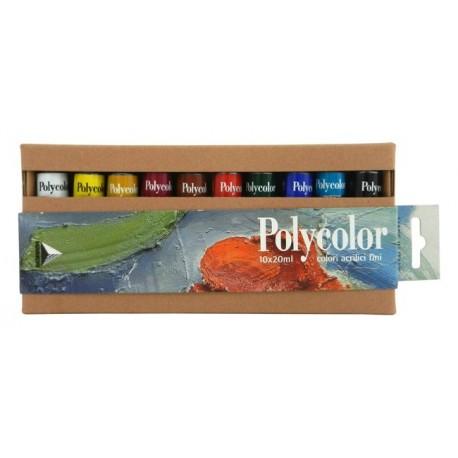 Set 10x20ml culori vinilice Polycolor Maimeri