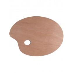 Paleta pictura lemn ovala 20x30