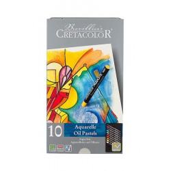 Set 10 pasteluri acuarelabile Aqua Stic Cretacolor