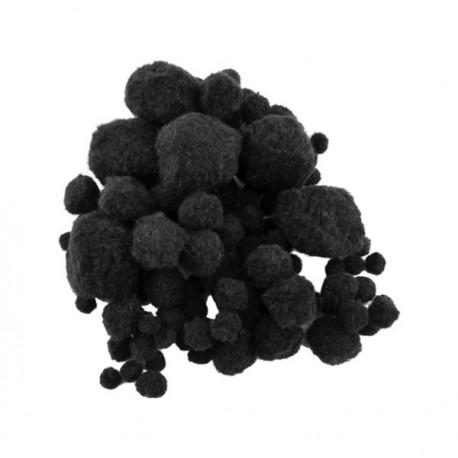 Pompon negru