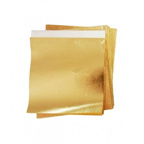 Foita schlagmetal aur non UE cu transfer 16x16 cm