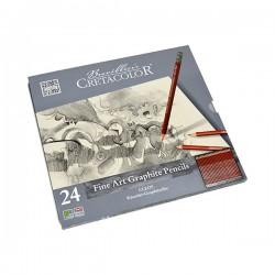 Set 24 creioane grafit Cretacolor