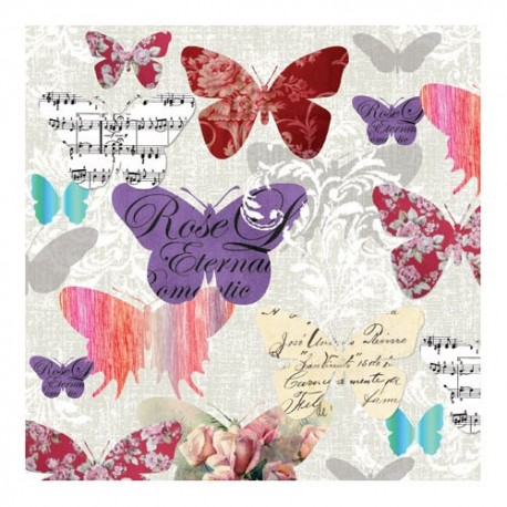 Servetel decorativ Romantic butterflies